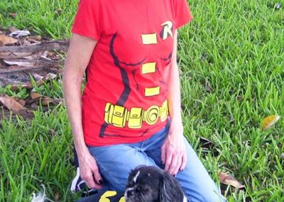 Cheryl and Bat Dog!