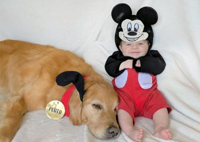 Cats N Dogs - Dog & Owner, Pluto & Mickey Costumes