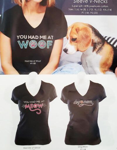 Cats n Dogs Ladies Rhinestone Tee's