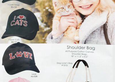 Cats n Dogs Ladies Rhinestone Caps